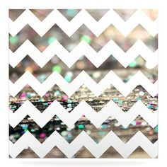 "East Urban Home 'After Party Chevron' Graphic Art Print on Metal Size: 10"" H x 10"" W x 1"" D"