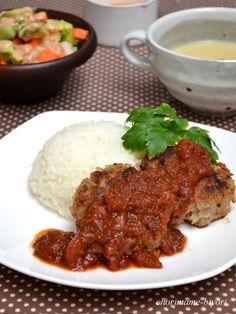 Onion demiglace sauce croquette hamburger steak/オニオンデミグラスソース・コロッケハンバーグ