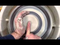 Centering Clay - a How to Pottery wheel Demo w/ safe hand motions