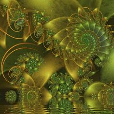 Spiral Pond Life by FireLilyFractals.deviantart.com on @DeviantArt