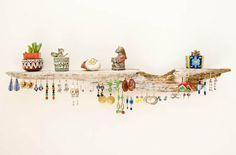 porte bijoux mural en bois flotté