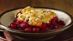 Looking for a fruit dessert? Then check out this cherry cobbler recipe using Bisquick® Gluten Free mix that can be ready in less than an hour.