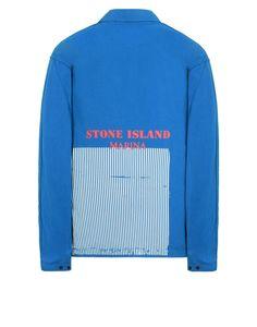 122XX STONE ISLAND MARINA_50 FILI + FOLDED MARINA PRINT OVER SHIRT Stone Island Men - Official Online Store