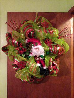 I just made this Santa Wreath