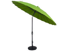 Treasure Garden 10' Shanghai Aluminum Round Collar Tilt Crank Lift Umbrella | USA459
