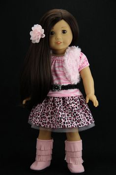 Handmade 18 inch doll clothes Pink 5 piece by DolliciousClothes