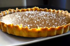 Chocolate Caramel Tart from www.laughlovekiss.com - This tart is absolutely delicious and a showstopper every time!