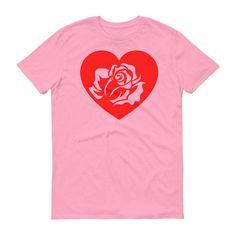 Red Rose Shirt Tumblr Shirt Heart Shirt Vintage Roses Enchanted Rose Hearts Girl Power Shirt Sorority Shirt Girl Gang Vintage TShirt by 25VintagePlace