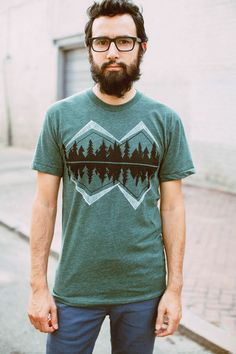 Crater Lake - Men's Mountain T-Shirt - Heather Green