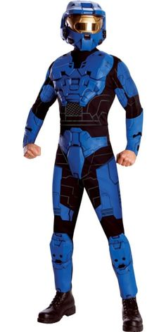 Teen Boys Blue Halo Costume - Party City