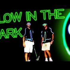 Glow in the dark golf trick shots: video