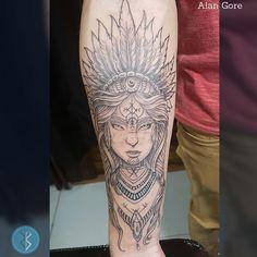 """104 curtidas, 8 comentários - Alan Gore Tatuador (@alangoretattoo) no Instagram: """"Tattoo do @michelrsb , feita por mim, no estúdio @sensetattoobsb , me procure por lá vc tb! Agende…"""" Indian Girl Tattoos, Instagram Tattoo, All Tattoos, Indian Girls, Tatting, Tattoo Man, Tattoos, Nature, Bobbin Lace"""