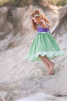 Ariel - Everyday Princess Dress - Character Inspired Dress - Sizes 18m/2t - 7/8