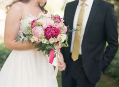 Fuchsia and Blush Bouquet | photography by http://www.jenlynnephotography.net