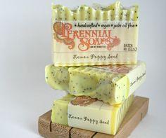 Meyer Lemon Poppy Seed Soap - Vegan Artisan Soap with Shea Butter