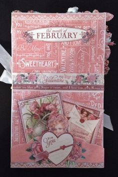 Graphic 45 Time to Flourish Valentine gift card by Anne Rostad