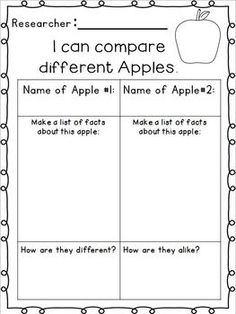 kindergartners writing about apples