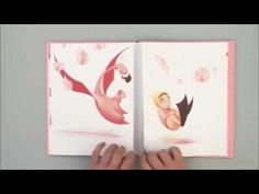 Flora and the flamingo, a wordless book. A pink book…