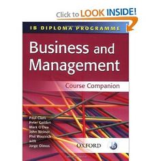 Price:  - IB Business and Management Course Companion (IB Diploma Programme) - TO ORDER, CLICK THE PHOTO