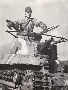 Dangerous job: Japanese tank commander, around 1940.