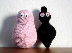 Barbamama and Barbapapa Free Amigurumi Pattern PDF version here… Knit Or Crochet, Cute Crochet, Crochet For Kids, Crochet Dolls, Amigurumi Doll, Amigurumi Patterns, Crochet Patterns, Crochet Mignon, Crochet Animals