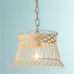 Vintage Wire Basket Pendant Light