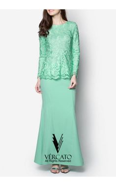 Exude sheer opulence for the coming festive season through this elegant baju kurung by VERCATO. Featuring a gleaming lace detail decorating the top, this piece combines the demurity of traditional wear with the sophistication of modern times. SHOP here www.vercato.com