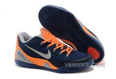 Big Discount  66 OFF Nike Kobe 9 Low EM Dark BlueOrangeGrey For Sale 311769