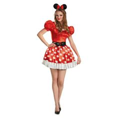 DELUXE Minnie Mouse Disney Fancy Dress Halloween Costume Size 8-16 AU