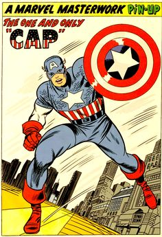 Captain America Pin Up by Jack kirby