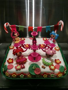 LaLaLoopsy inspired birthday cake for a 6 year old girl