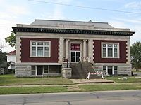 The Coffeyville KS Carnegie Library was replaced by a newer building in Coffeyville Kansas, Carnegie Library, State Of Kansas, Andrew Carnegie, This Is Us, Mansions, House Styles, City, Libraries
