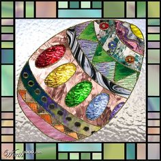 Egg in Stained Glass
