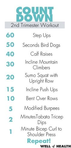 2nd Trimester Workout with video and printable | Well of Health