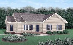 Elevation of Ranch House Plan 45485