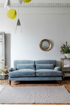 Velvet Three-Seater Sofa - available in 4 colours