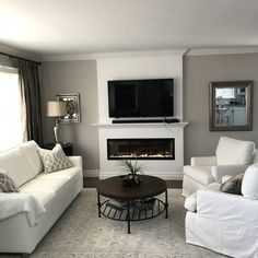 Outstanding small living room designs are offered on our website. look at this and you wont be sorry you did. Living Room Grey, Small Living Rooms, Home Living Room, Living Room Designs, Living Room Decor, Small Living Room Ideas With Tv, Modern Living, Apartment Living, Tv On Wall Ideas Living Room