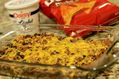 Dorito Locos Taco Bake - It's a taco casserole inspired by Taco Bell's Dorito Loco. This was SO GOOD! Couldn't get enough of it!
