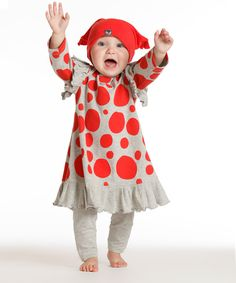 Look at this Silver & Red Lola Dress & Leggings - Infant on #zulily today!