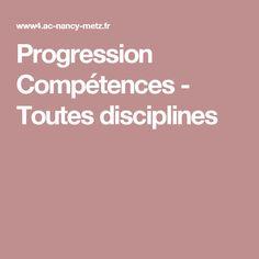 Progression Compétences - Toutes disciplines