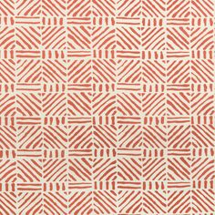 Linwood - Nasturtium // orange & white linen fabric // Lee Jofa