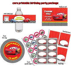 INSTANT DL  Lightning McQueen Disney Cars Printable by RavenJony, $4.80