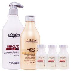 Loreal Profissional Fiberceutic Ritual Cabelos Finos Quimicamente Danificados - Loreal Profissional Fiberceutic: - Doce Beleza