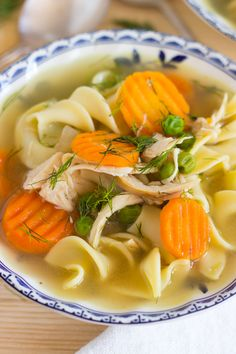Lemon Dill Chicken Noodle Soup. Classic chicken noodle soup gets a fresh makeover. You'll love this quick and easy version that's brightened up with lemon and dill!