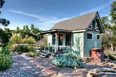 A 220 square feet (plus loft) home built using reclaimed materials in Canyon Lake, Texas. More info. Tiny Texas House in Canyon City, Texas