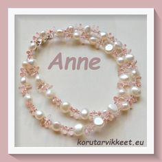 Anne teki upean kalakorun Rizo helmistä. Rizo lasihelmet tekevät kaulakorusta elävän. Tuli todella kaunis koru. Kiitos kuvasta Tuli, Pearl Necklace, Pearls, Jewelry, Fashion, Jewlery, Moda, Jewels, La Mode