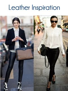 Leather Inspiration, Leather Leggings. i also bought leather leggings! so excited lol