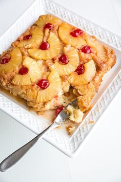 Pineapple Upside Down Bread Pudding from @kitchenmagpie