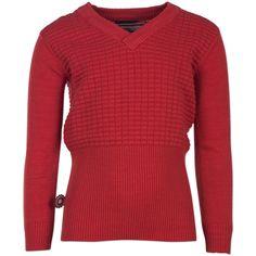Meisjes sweater That Part van het merk 4funkyflavours Sweater uit de reeks : Mathematics Bruin / oranje knitted sweater met lange mouwen en een ronde hals