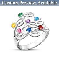 Womens Ring: Family Is Forever Personalized Ring